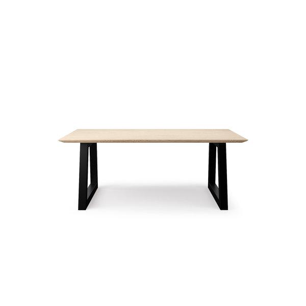 Vergadertafel 01 | zwart/wit - Light Oak