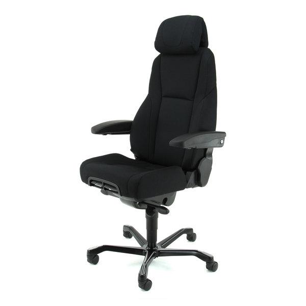 24-uurs bureaustoel KAB K4 Storm zwart