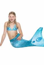 NoordZeemeermin Turquoise Dream kinder zeemeermin staart om mee te zwemmen