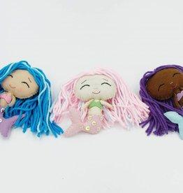 Ensemble de poupées porte-bonheur sirène
