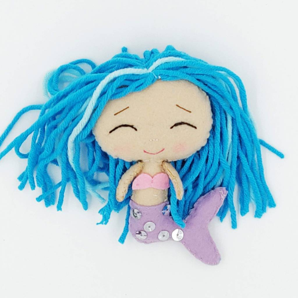 Pinky mermaid lucky doll