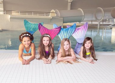 Mermaid swimming party