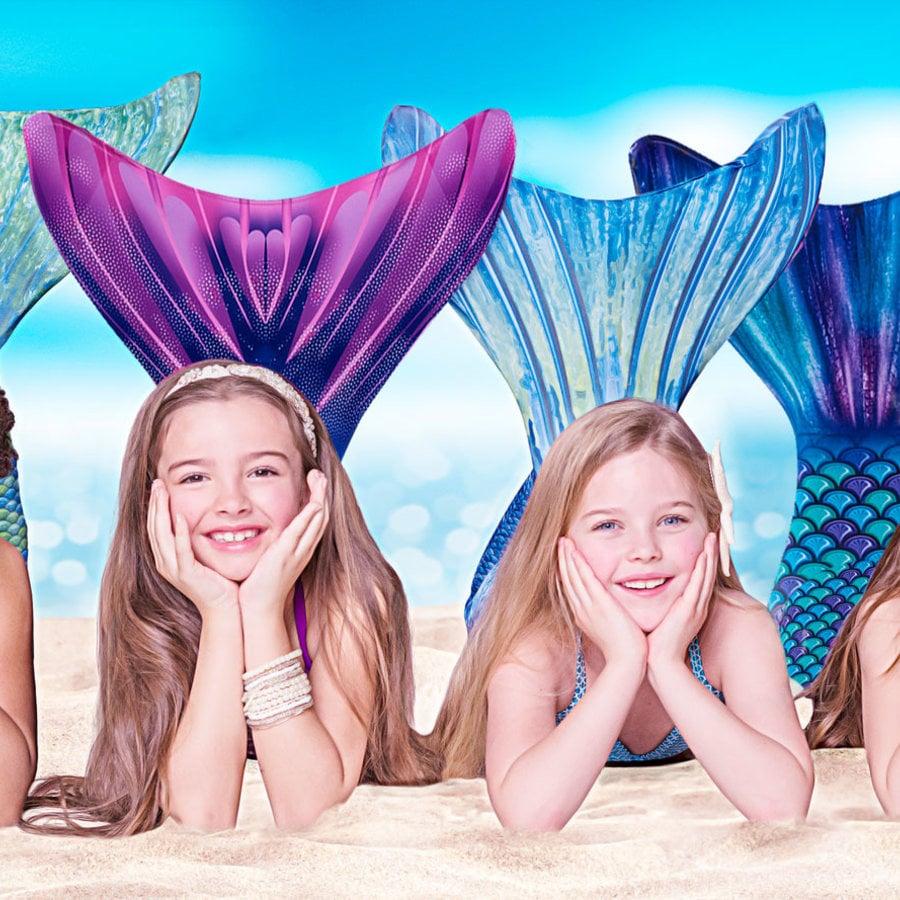 Mermaid swimming party