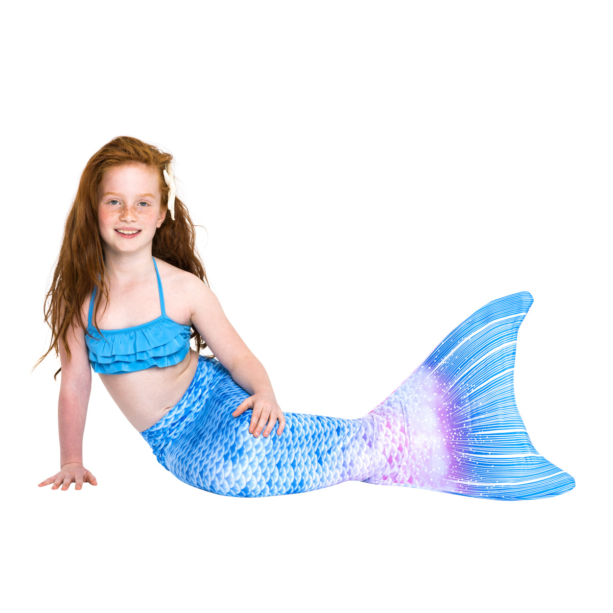 Blue fantasy mermaid tail