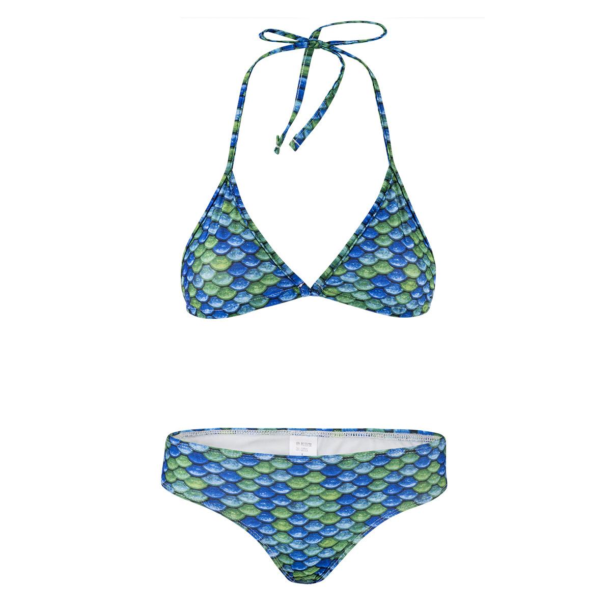 NoordZeemeermin Bikini Greeny triangle taille L (158164)