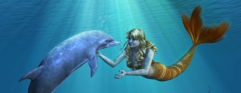 zeemeerminnen hebben altijd perfect hun haar in model
