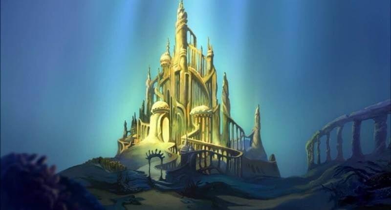 Disney's Ariel de kleine zeemeermin's kasteel woning