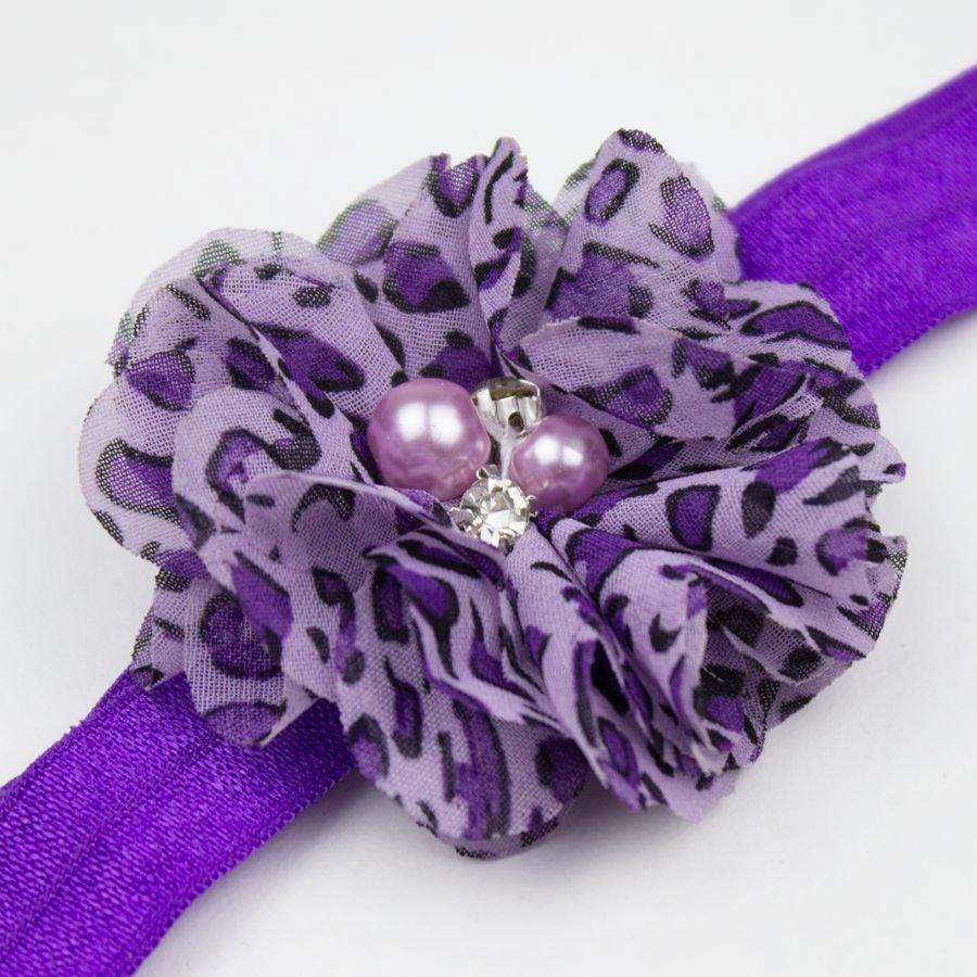 Haarbandje luipaard (paars)
