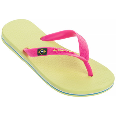 Ipanema Slippers Classic Brasil (yellow/pink) - IpS19mb