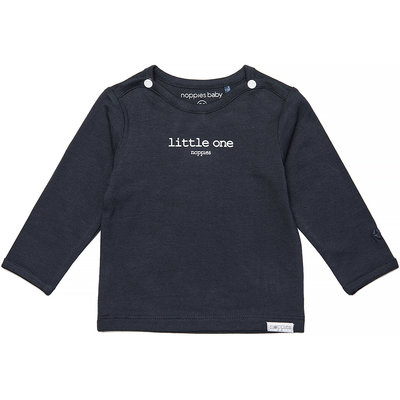 Noppies Longsleeve Hester text (charcoal) - uni NOOS