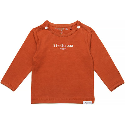 Noppies Longsleeve Hester text (spice ginger) - uni NOOS
