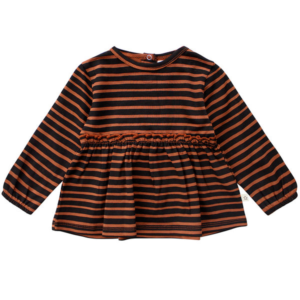 Your Wishes Longsleeve pleated Stripes (potters clay)