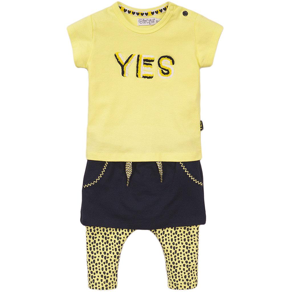 Tweedelig setje Yes (navy/yellow)