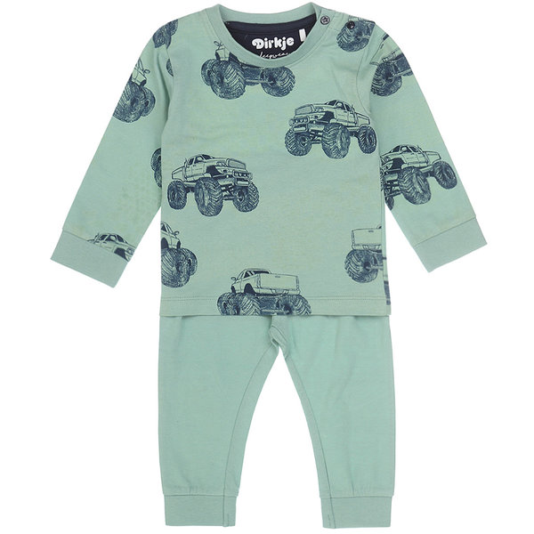 Dirkje Pyjama set Truck (smokey green)