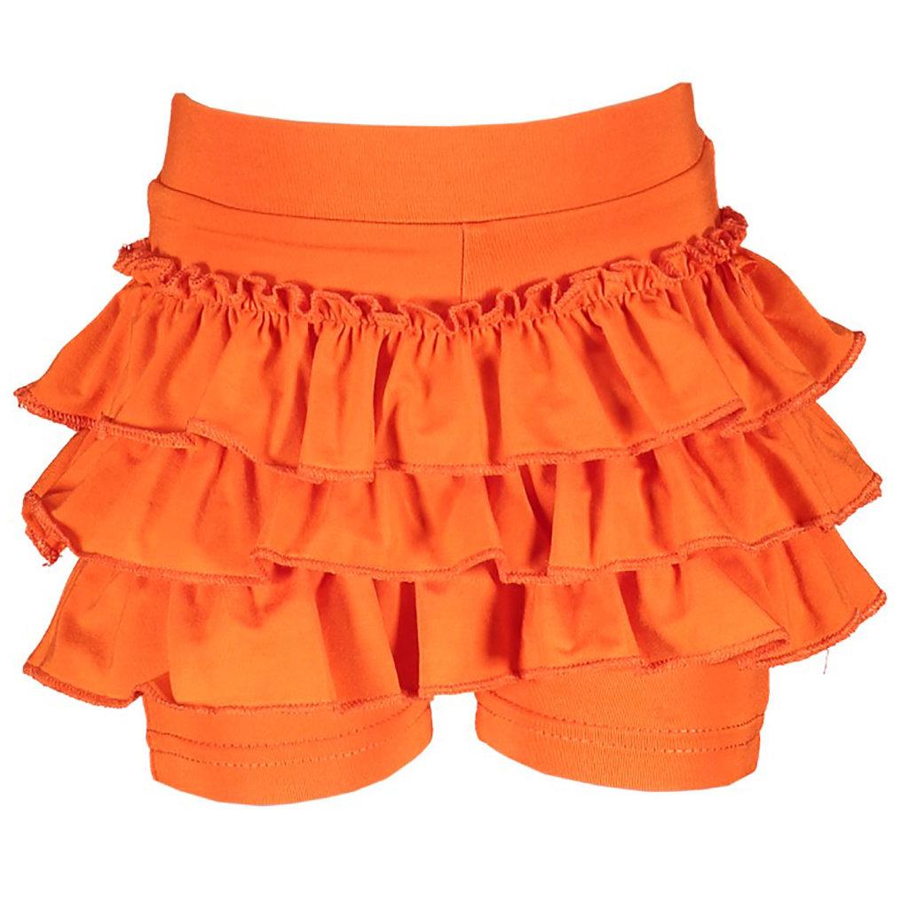 Kort broekje Ruffle (tangerine sunset)