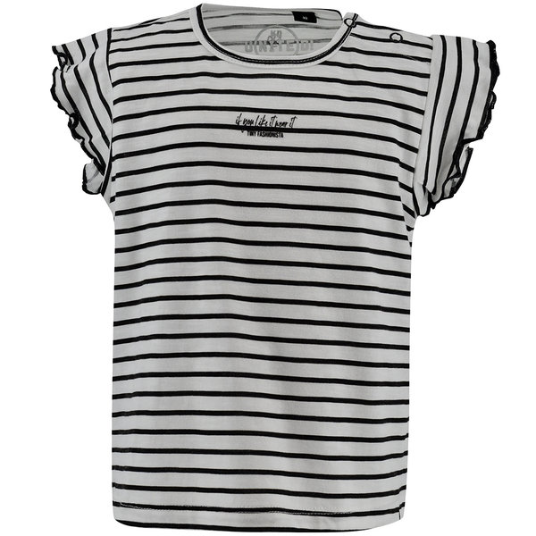 Born to be Famous T-shirt Fayenne (off-white stripe)