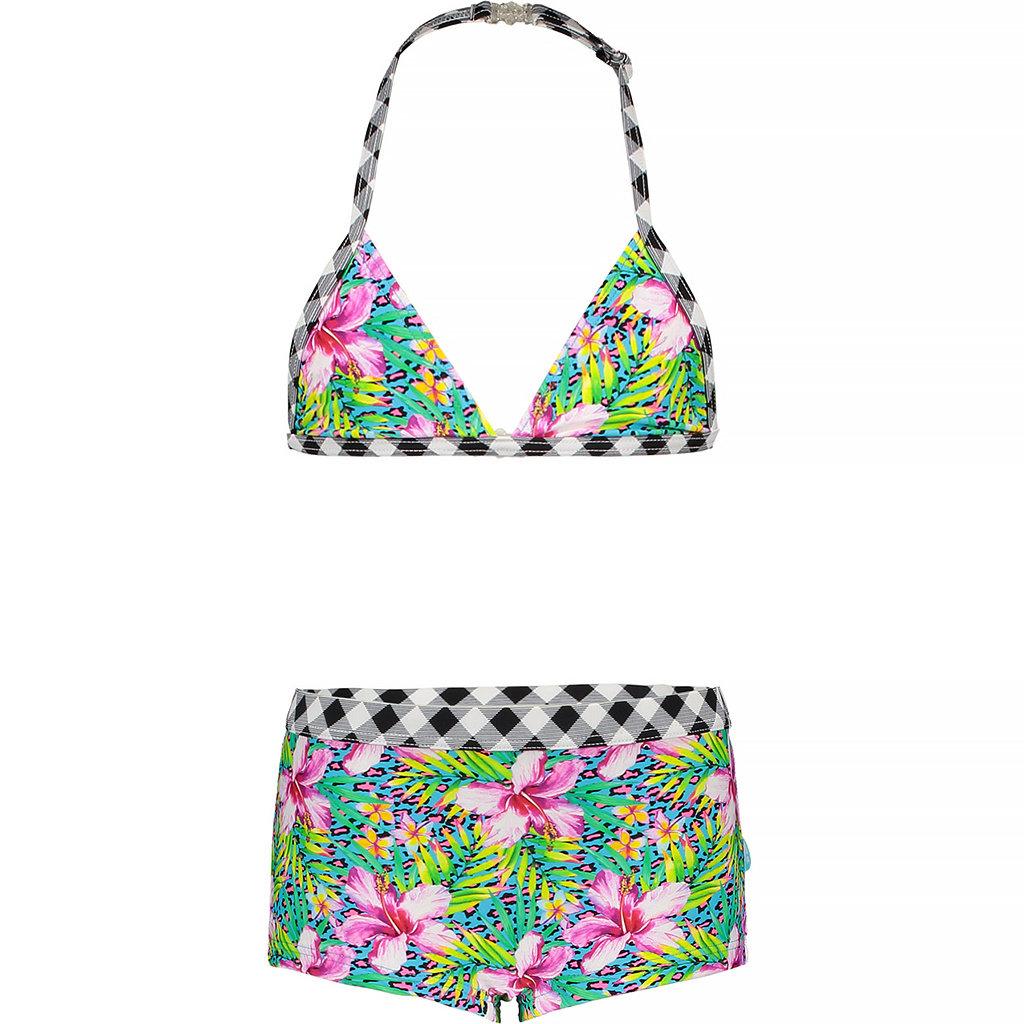 Bikini met shorts (tropical)