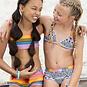 Just Beach Bikini met shorts (surf black/white tiki)