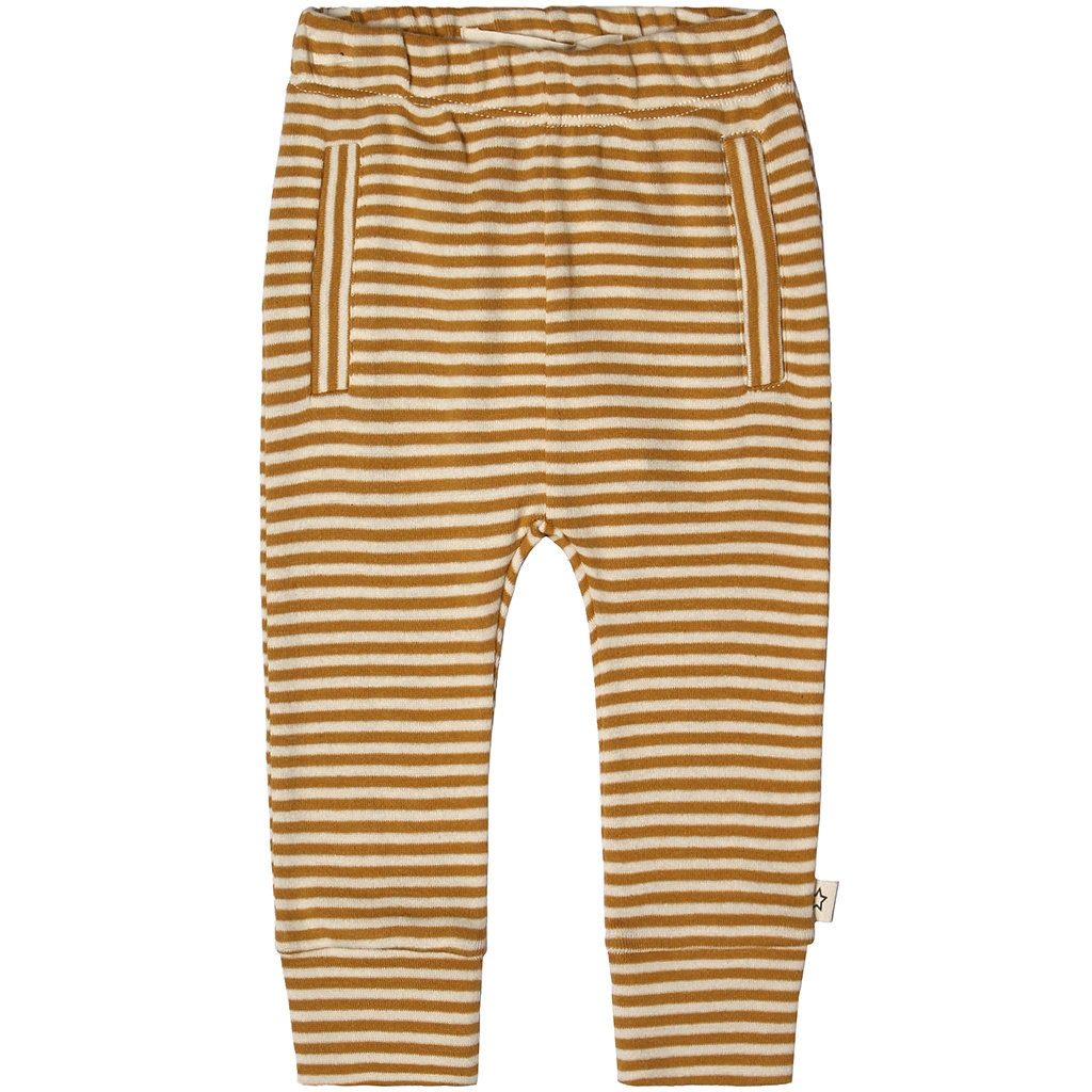 Broekje Gold Stripes Fitted (soft yellow)