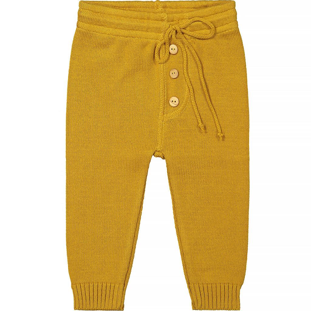 Gebreid broekje (yellow ochre)