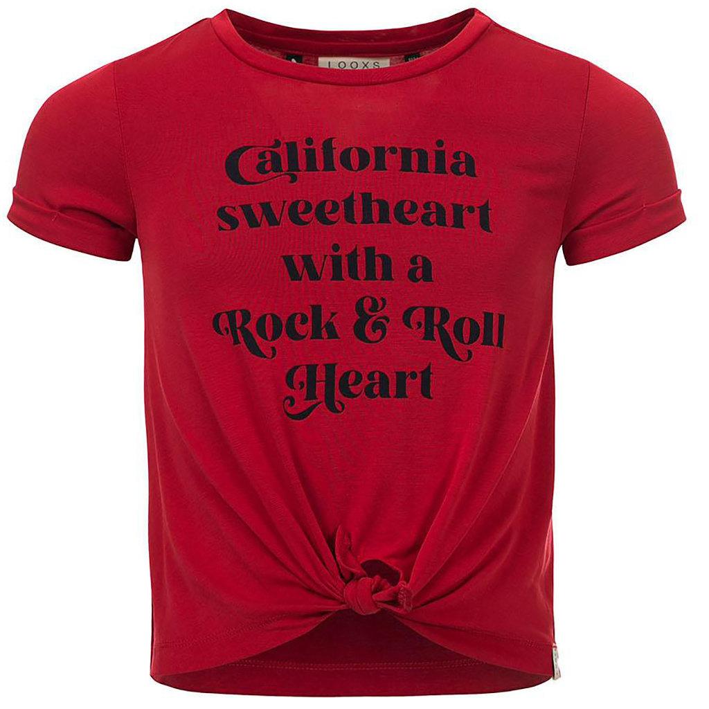 T-shirt / modal crop top (chili)