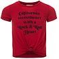 Looxs T-shirt / modal crop top (chili)