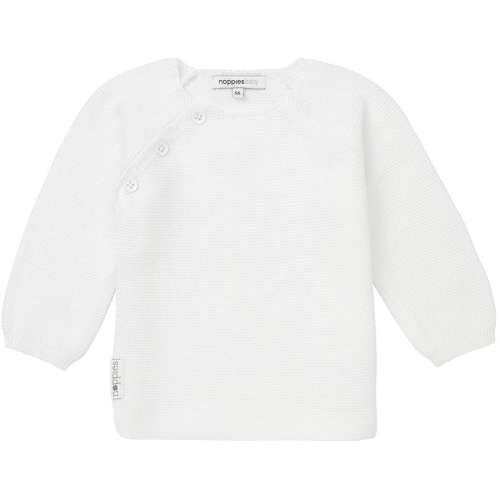 Gebreid overslag vestje Pino (white)