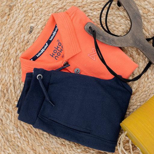 Polo shirt Noah (neon coral)