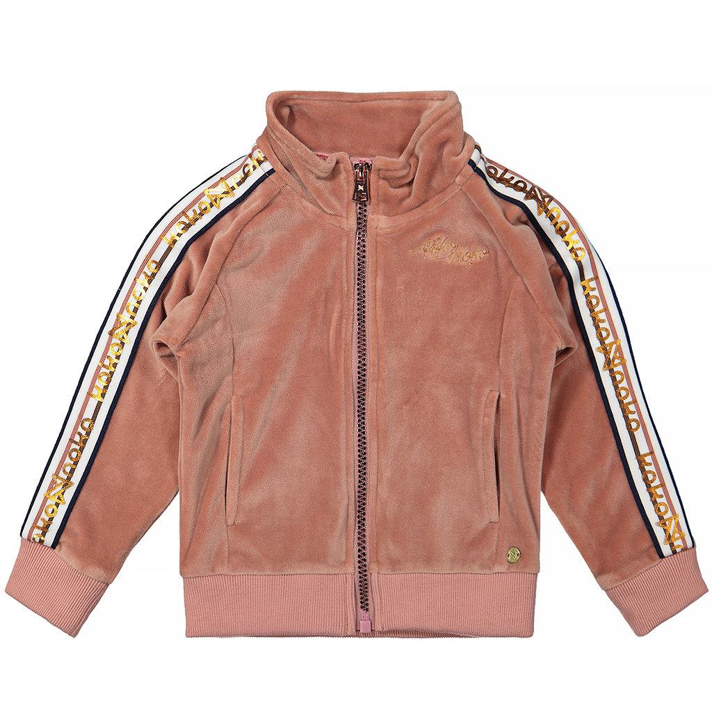 Vest velours (dusty pink)