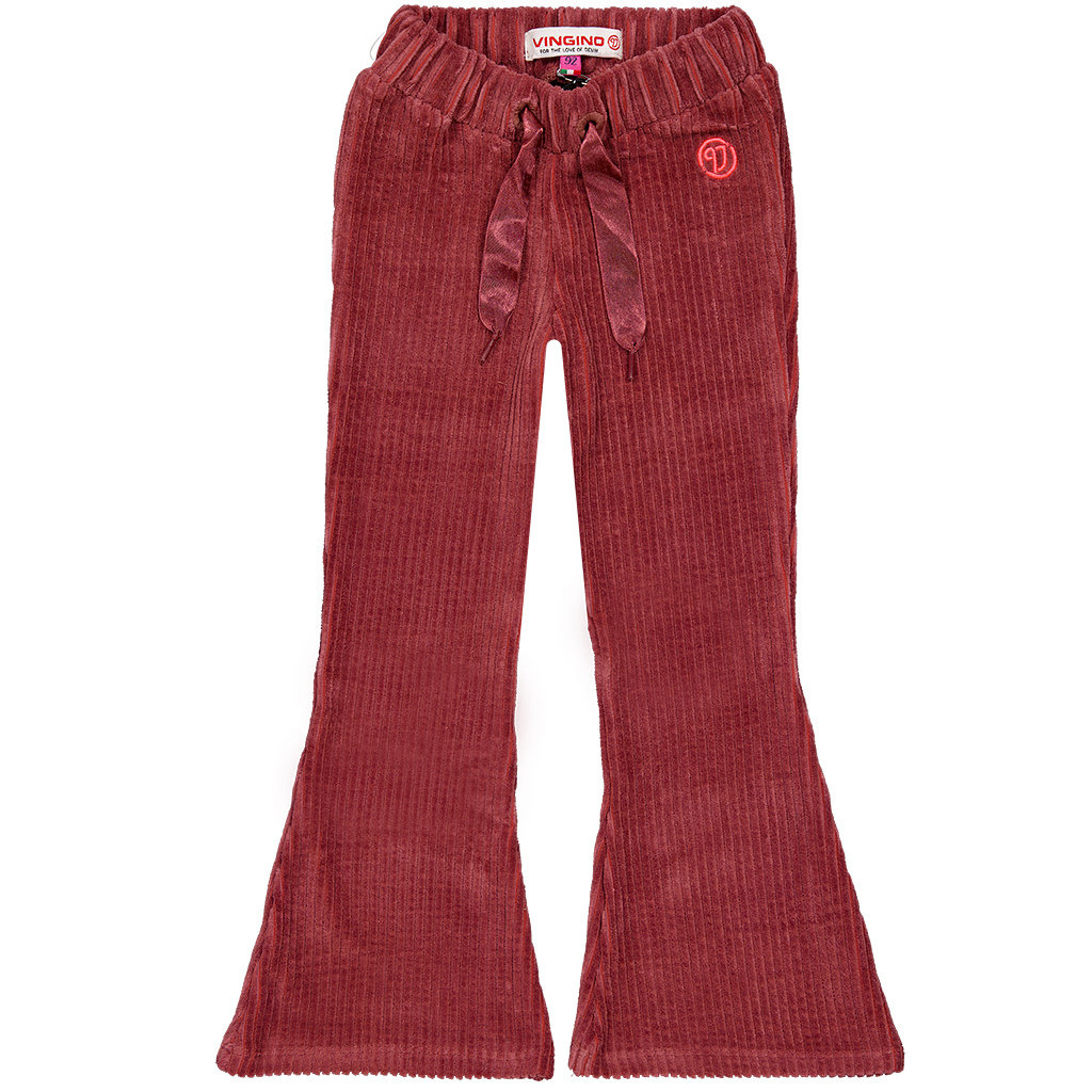 Broek flaired Syntia (marsala pink)