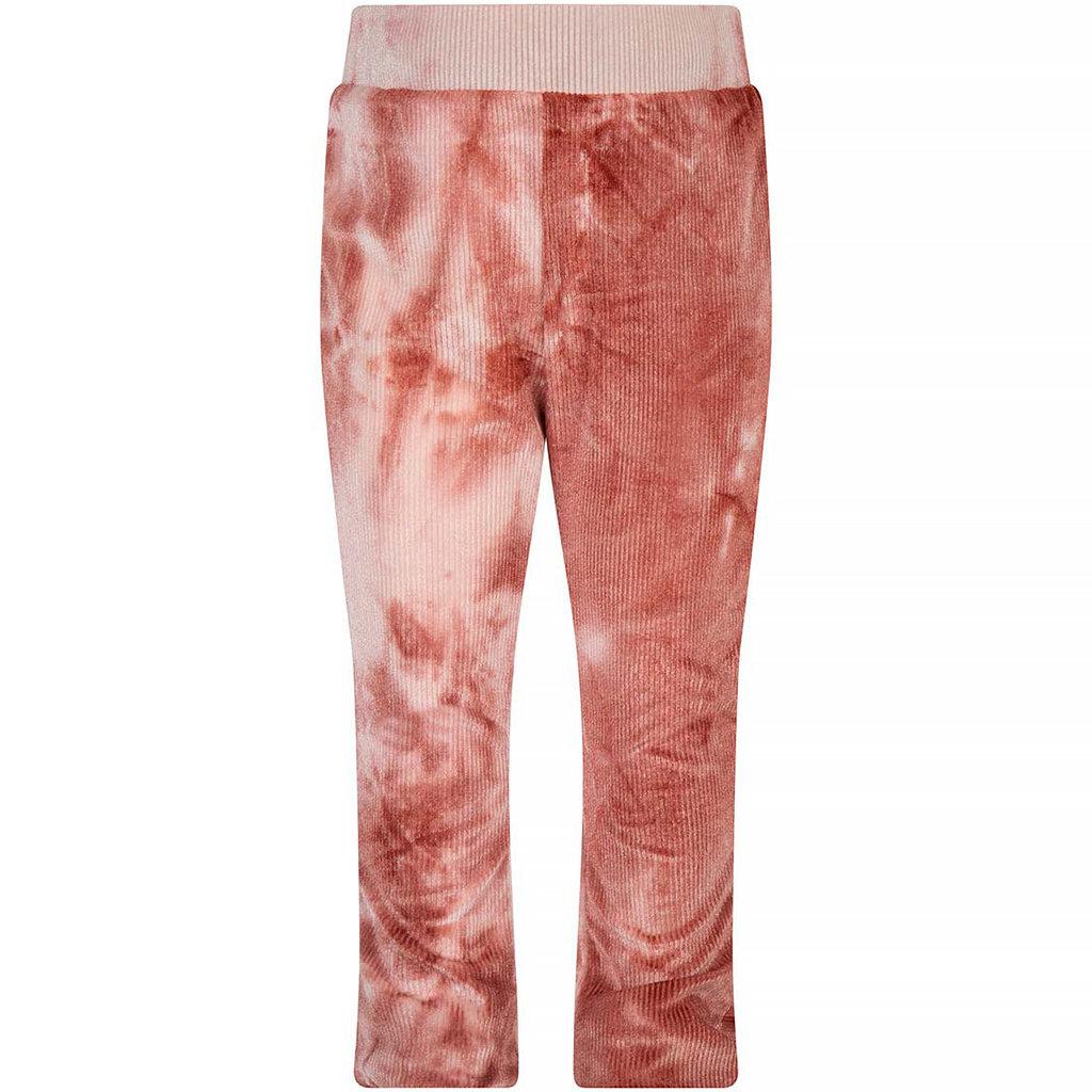 Flared broek tie dye (barn bordeaux)