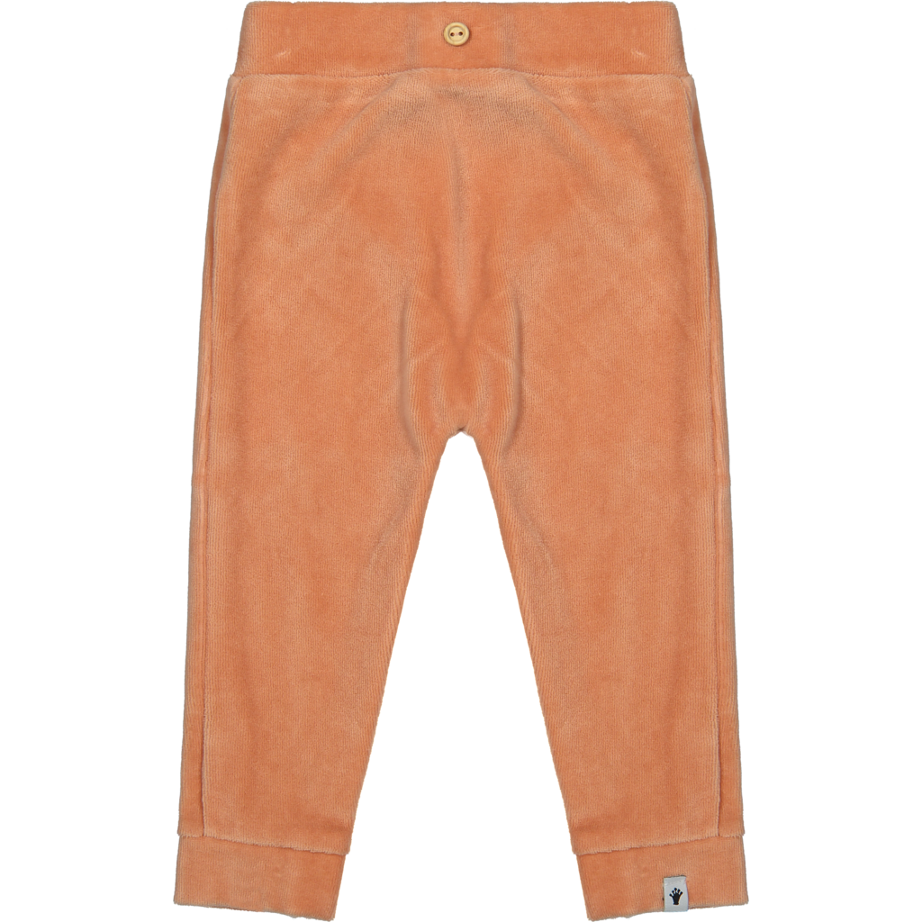 Broekje velours (muted clay coral)
