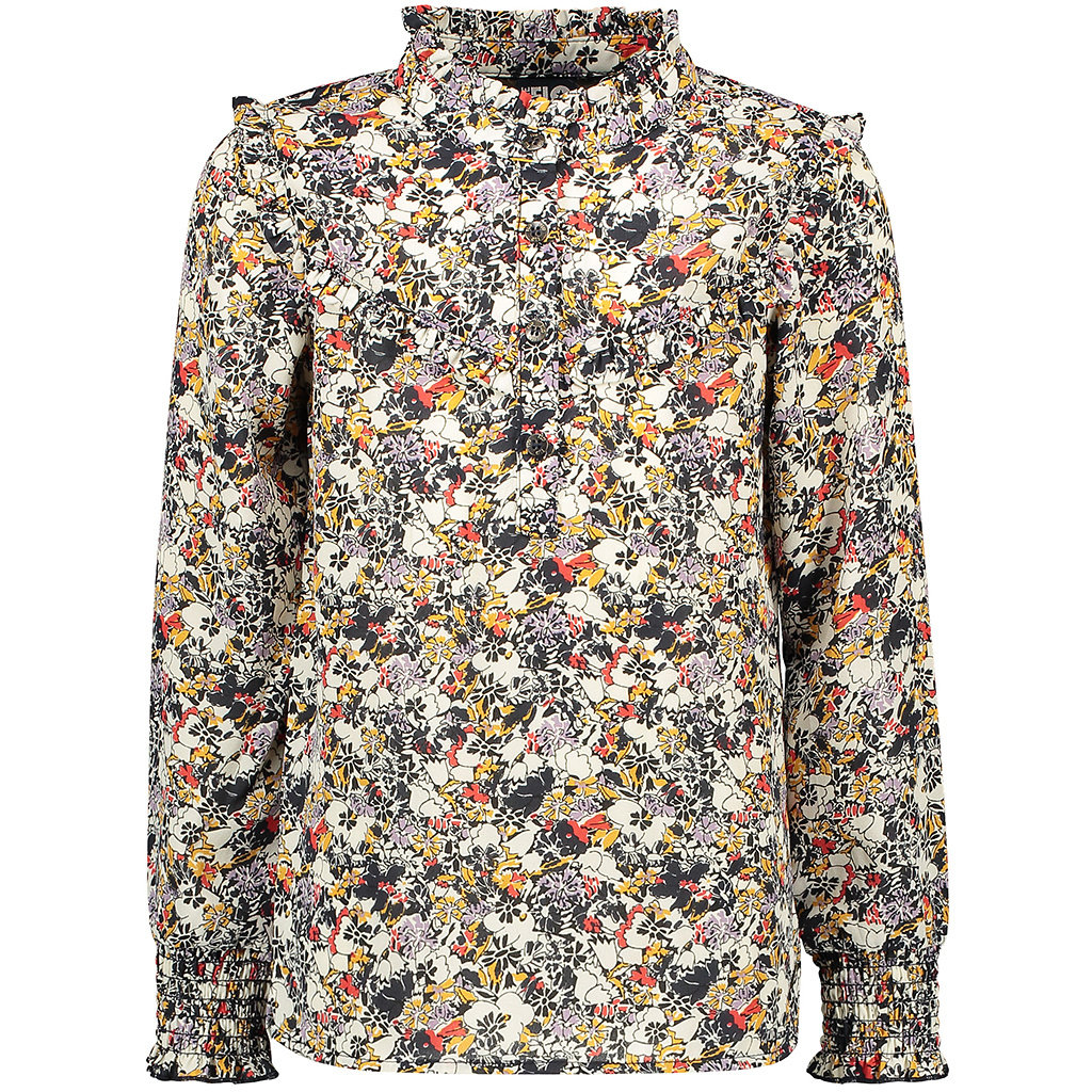 Blouse crepe (graphic flower)