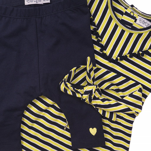 Driedelig setje Be kind (navy/yellow)