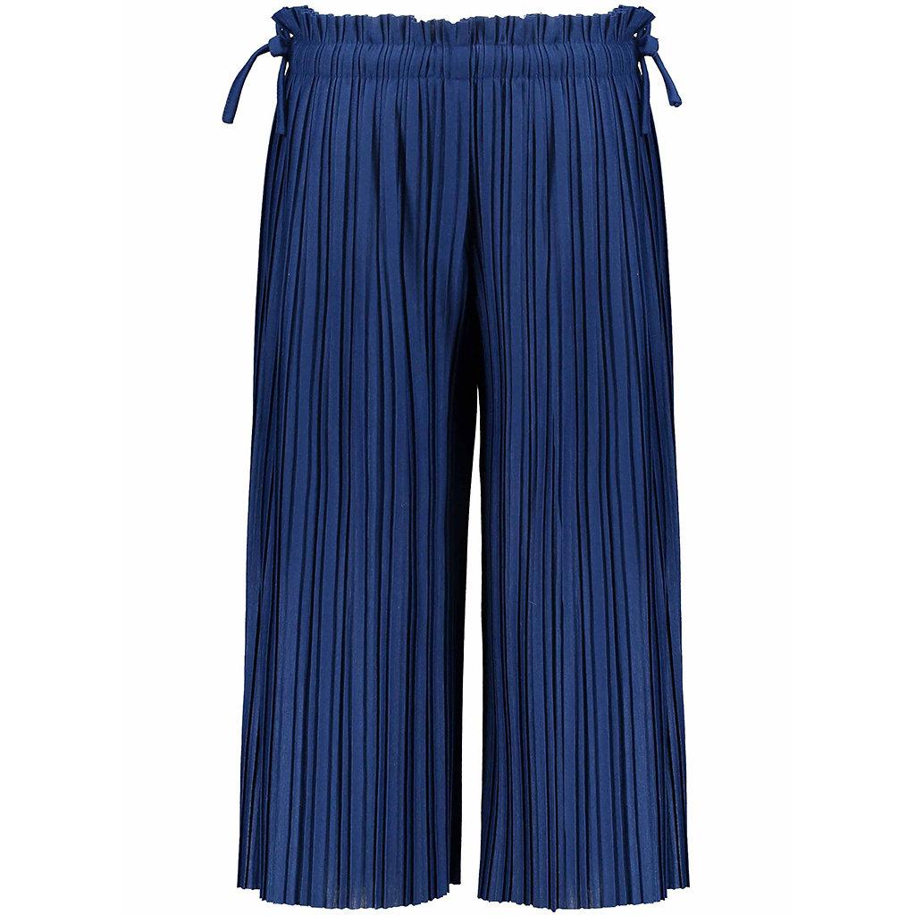 Broek plissé culotte (lake blue)