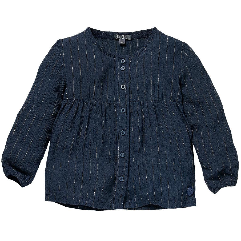 Blouse Sigrid (blue midnight stripe)
