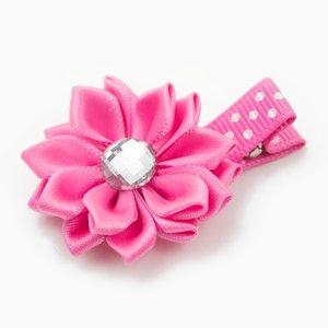 Haarspeldje margriet met strass (roze)