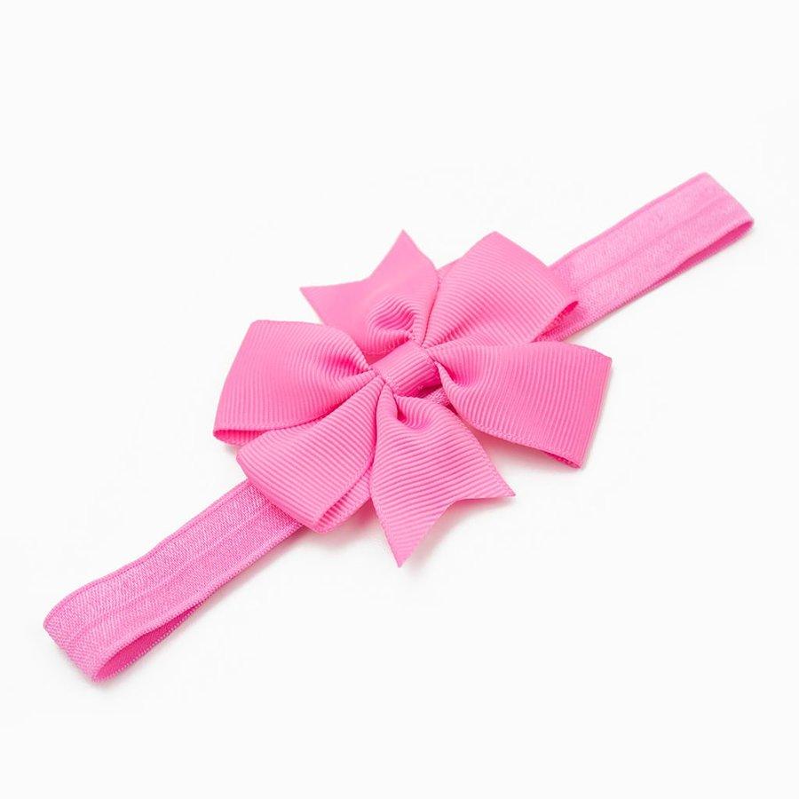Baby haarbandje strik (roze)