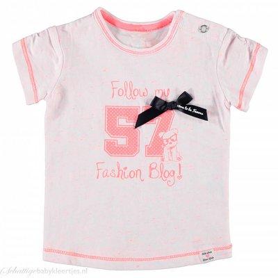 Born to be Famous T-shirt (neon roze)