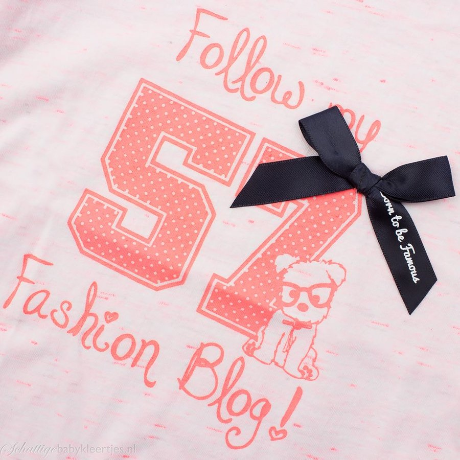 Born to be Famous T-shirt (neon roze) | Born to be Famous babykleding
