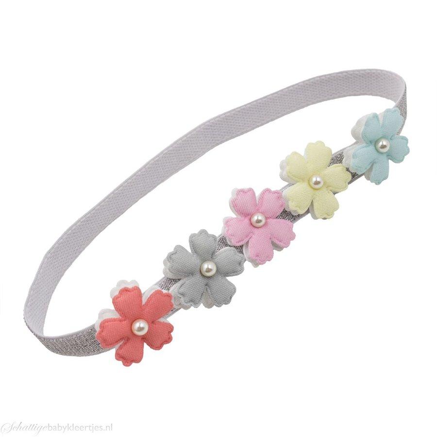 Haarbandje bloemen (pastel)