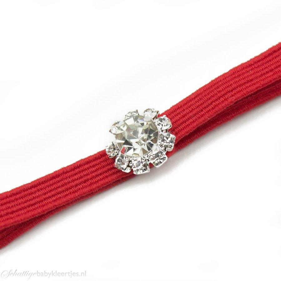 Haarbandje strass (rood)