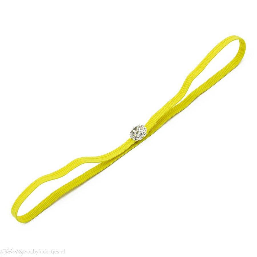Haarbandje strass (geel)