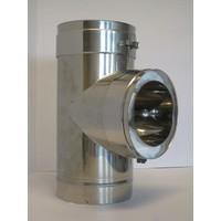 Thermovast T-stuk 90 gr. 130 mm