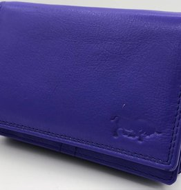 Arrigo Fel blauwe Anti Skim portemonnee