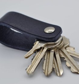 Arrigo blue real leather keychain