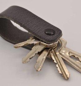 Arrigo Gray genuine leather keychain