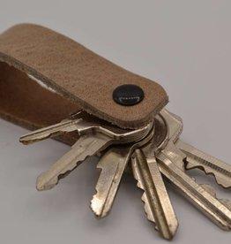 Arrigo Taupe genuine leather keychain