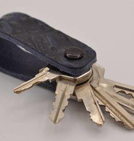 Arrigo Blue croco genuine leather keychain
