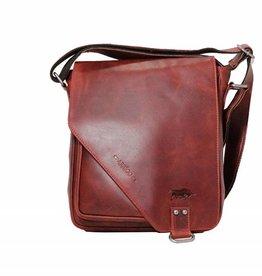 Arrigo shoulder bag red, leather bag- nice leatherbag- luxe beg-arrigo-026